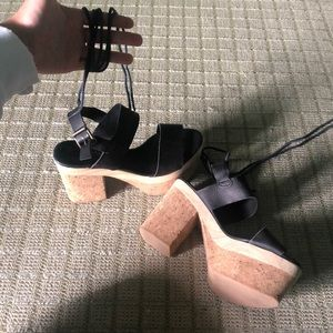 Free People Chunky platform heel with lace up